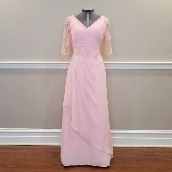 New Evening Gown Mother Bride Dress Pink 14 16 Boutique